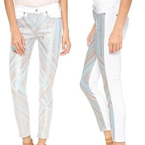 7 For All Mankind Malhia Kent Pieced Skinny Jeans